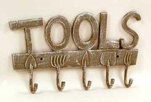 Garden Tools Coat Rack - Cast Iron New