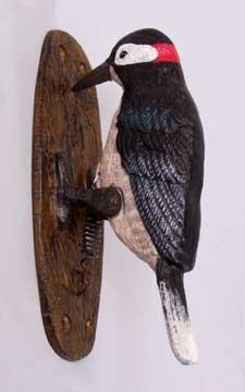 CAST IRON HAND PAINTED BIRD DOOR KNOCKER