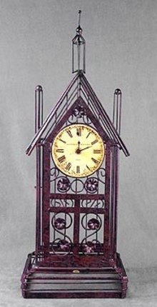 Art Deco Wire Metal Clock