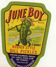 VINTAGE DILL PICKLE LABEL