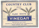VINTAGE PURE WHITE VINEGAR LABEL