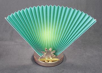 2 TEAL FAN LAMPS / LIVINGROOM / NEW