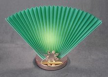 2 HUNTER GREEN  FAN LAMPS / LIVINGROOM / NEW
