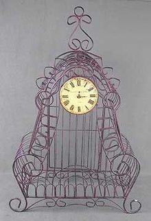 Cast Iron Curled Clock
