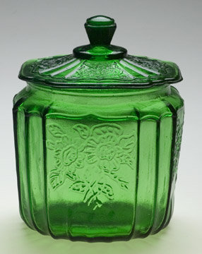 Green Mayfair Glass Cookie Jar