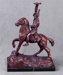 NEW INDIAN CHIEF SCALP HORSE STATUE
