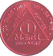 VINTAGE ALCOHOLICS ANONYMOUS COIN