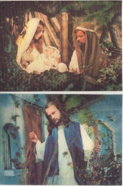 JESUS CHRIST MARY POSTCARDS  1970S 3d