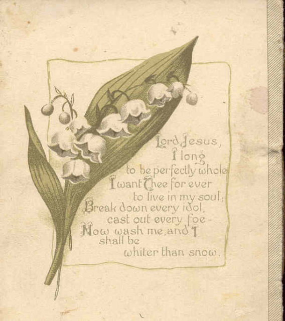 VINTAGE CASTELL BROTHERS PSALM BOOKLET 1900S