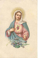 VINTAGE MOTHER MARY POSTCARD