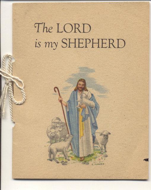VINTAGE LORD IS MY SHEPHERD BOOKLET 1941