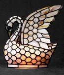 Glass Swan Lamp