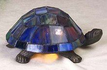 Leaded Glass Turtle Lamp