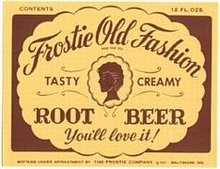 Frostie Root Beer Soda Labels