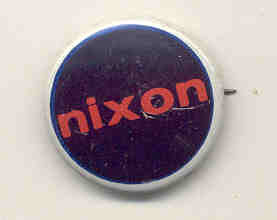 VINTAGE RICHARD NIXON PINBACK PIN BUTTON