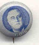 FDR Political Pin - Roosevelt President
