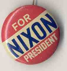 VINTAGE RICHARD NIXON FOR PRESIDENT PINBACK PIN