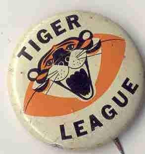 Tiger League Football pinback Pin