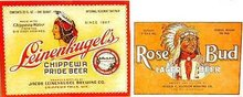 Rose Bud Beer Labels - Indian