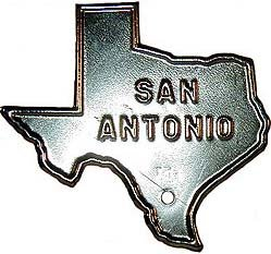 San Antonio Texas License plate Topper 1940s