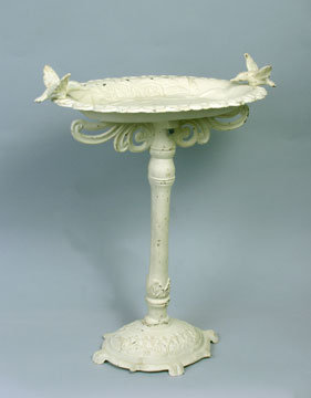 CAST IRON BIRD BATH NEW