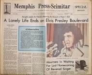 Elvis Presley Death Newspaper 1977