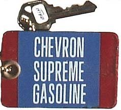 Porcelain Chevron Gas Bathroom Key