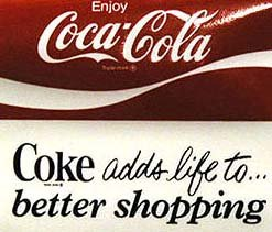 Coca-Cola Soda Window Decal