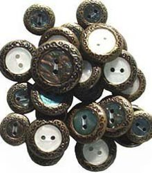 Mother of Pearl Brass Buttons