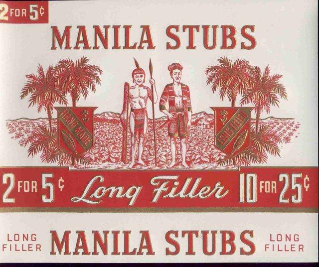Manila Stubs Cigar Label