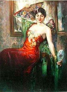 Theo Jackson Art Print - Vanity Woman