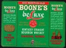Boone's Deluxe Whiskey Labels
