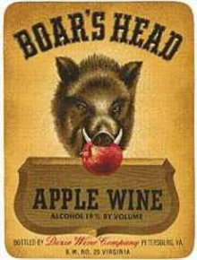 Boar's Head Grape Wine Label