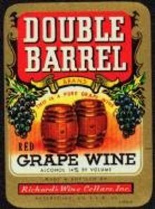 Double Barrel Grape Wine Labels