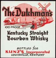 Dutchman Kentucky Whiskey Label