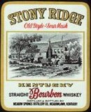 VINTAGE STONY RIDGE SOUR MASH WHISKEY LABEL