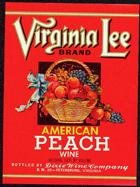 Virginia Lee Peach Wine Labels