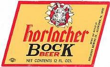 10 VINTAGE HORLACHER BOCK BEER LABELS