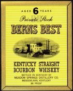 Berns Best Whiskey Label