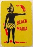 Black Maria Metal Tobacco Tag