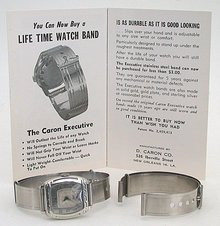 Stainless Steel Watchband - Caron Executive 1950s