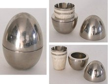 Chrome Shot Glass Art Deco 1930s