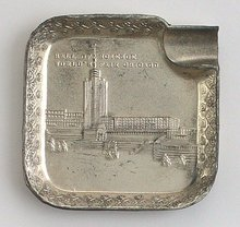 Chicago's World's Fair Silver Metal Tray