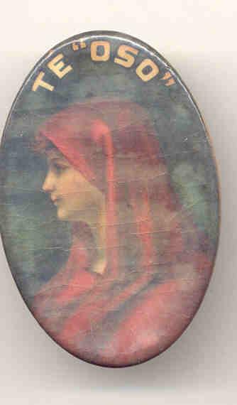 TE'OSO Celluloid Mirror 1920s