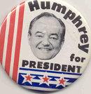 VINTAGE HUMPHREY FOR PRESIDENT PINBACK POLITICAL PIN
