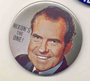 VINTAGE RICHARD NIXON 1968 LARGE POLITICAL REPUBLICAN PIN