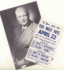 Dwight Eisenhower Vote Card