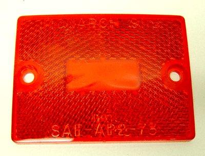 VINTAGE MONARCH RED CAR LENS 1973 DOT