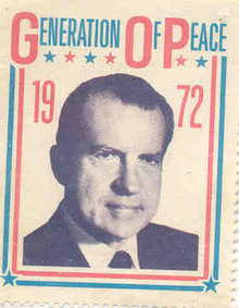 Richard Nixon Postage Stamp 1972 Peace