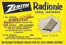 VINTAGE ZENITH RADIONIC COBRA CARTRIDGE